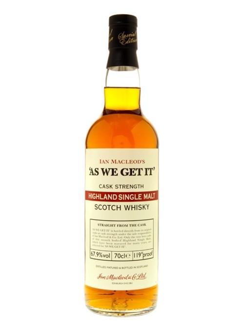 Confezione regalo Whisky Highland Single Malt As We Get It
