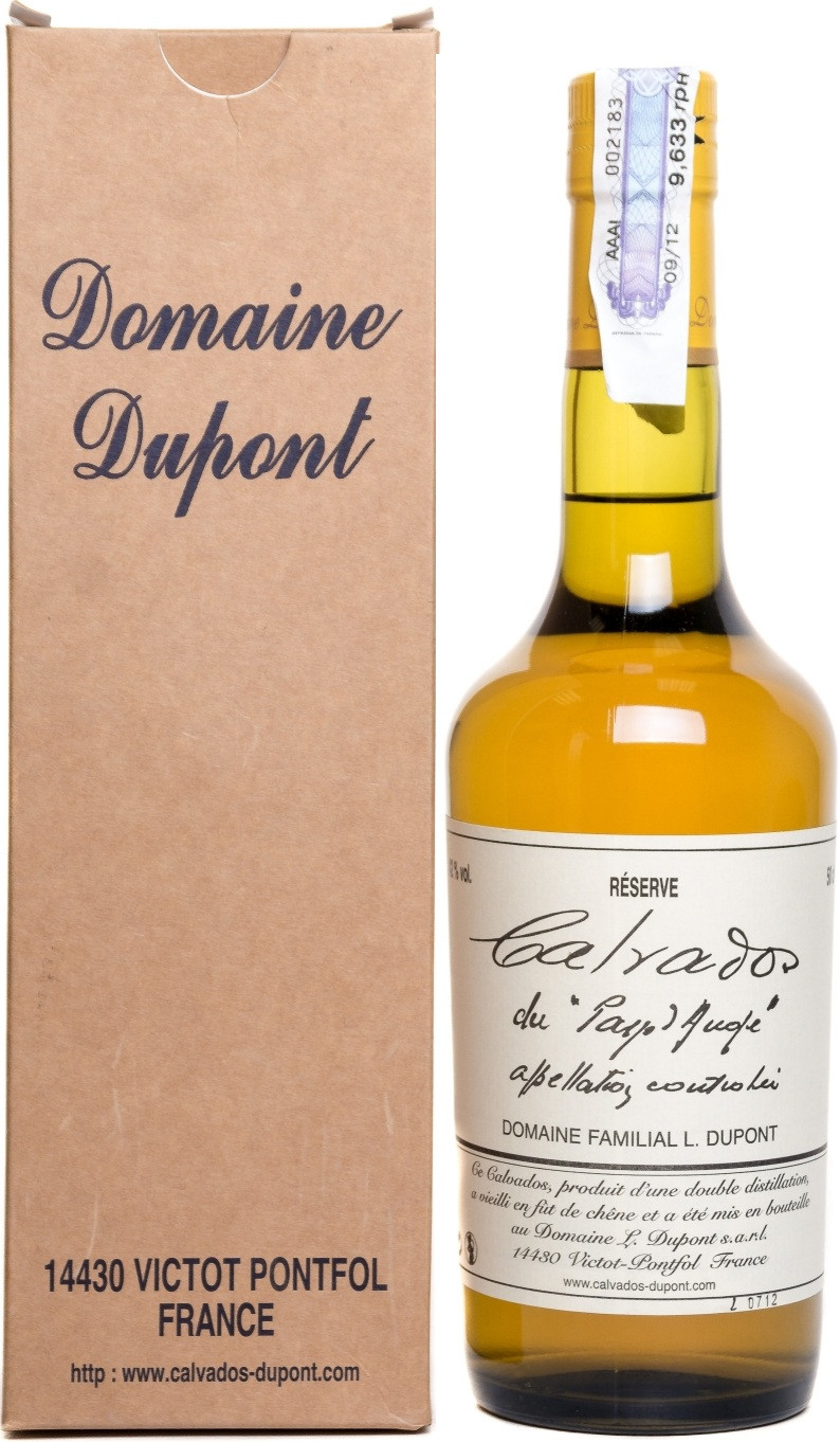 Distillato Calvados Reserve 3 Ans Domaine Dupont