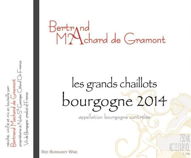 Vino rosso Bourgogne Les Grands Chaillots