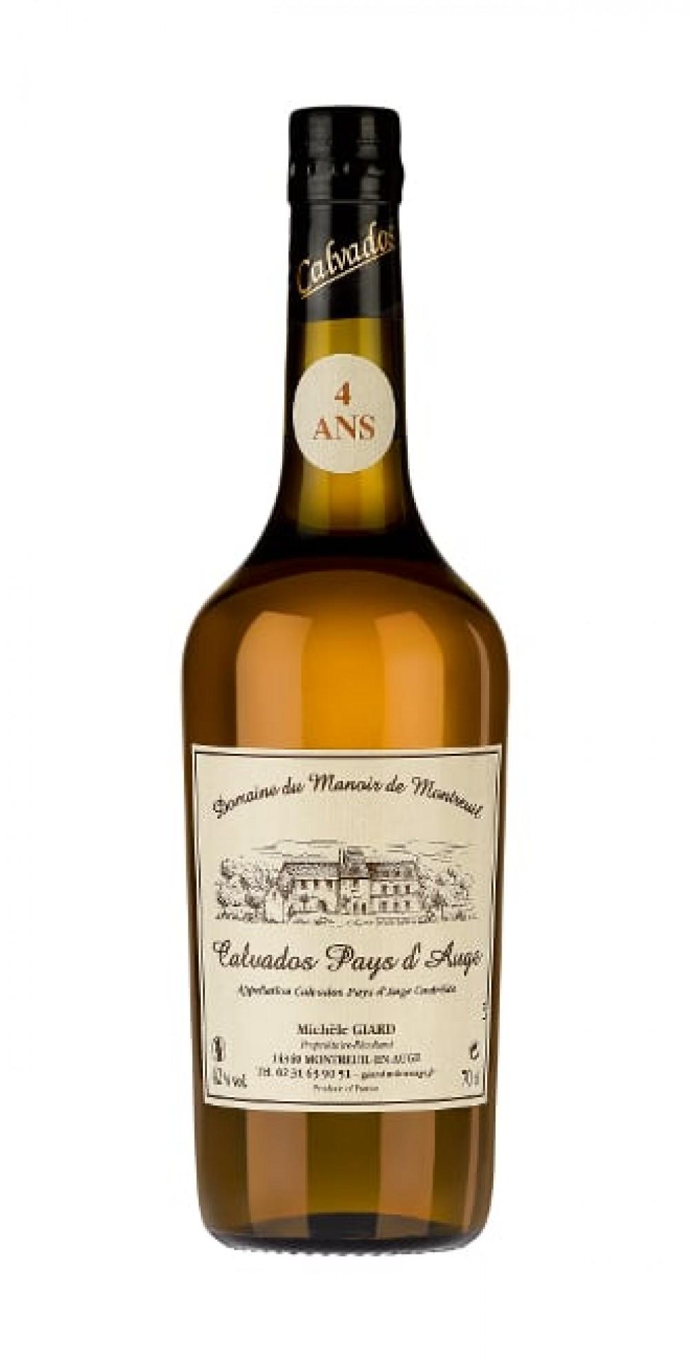 Confezione regalo Calvados Pays d'Auge Giard 4 anni