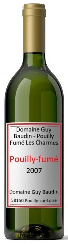 Vino bianco Pouilly-Fumé Les Charmes