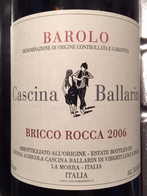 Vino rosso Barolo Bricco Rocca Riserva Tistot 2006