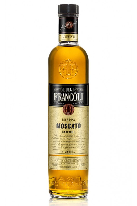 Distillato Grappa Origini Barrique Moscato Francoli