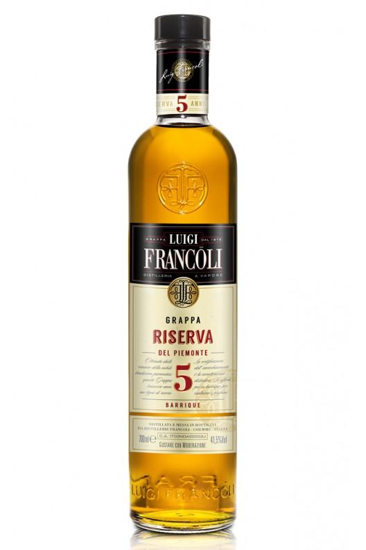 Distillato Grappa Origini invecchiata Riserva 5 anni Francoli