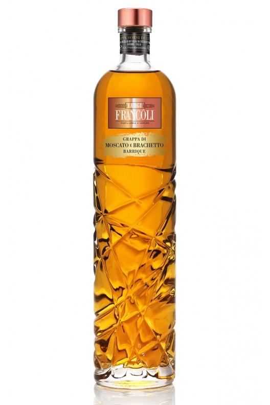 Distillato Grappa Sorsi di Luce Moscato e Brachetto Barrique Francoli