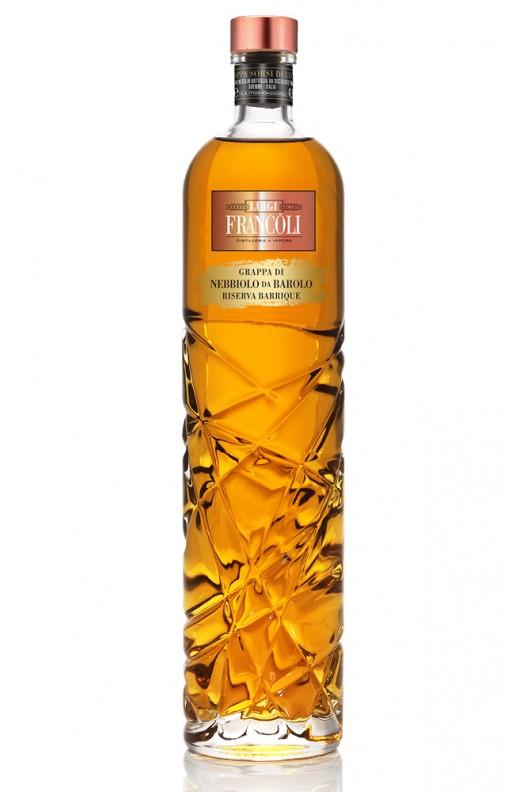 Distillato Grappa Sorsi di Nebbiolo da Barolo Riserva Barrique Francoli