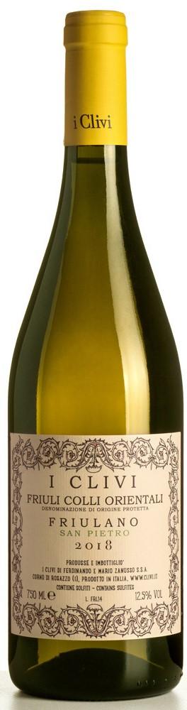 Vino bianco Friulano CRU San Pietro Colli Orientali del Friuli