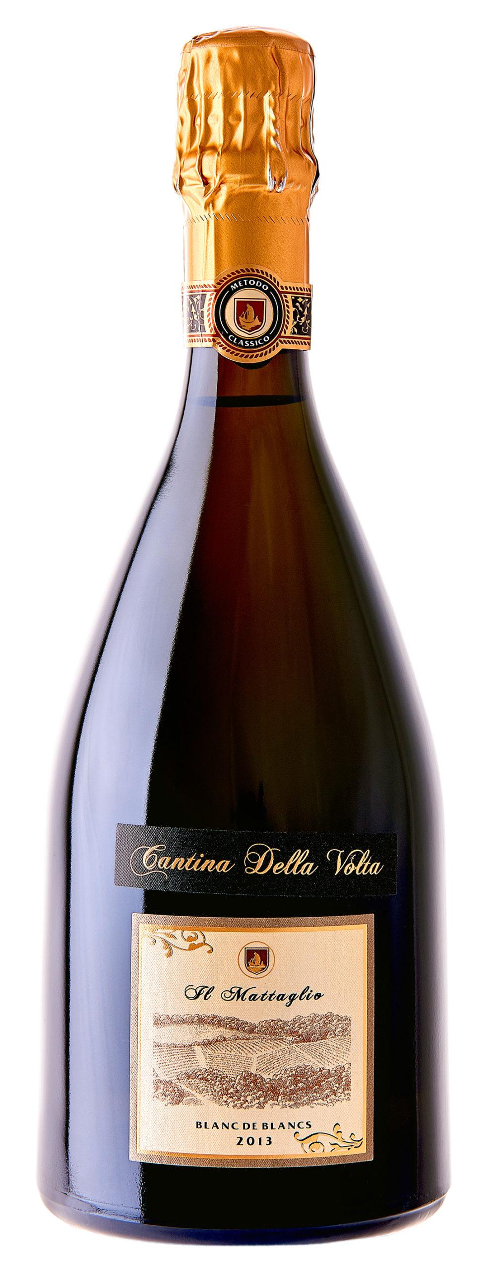 Vino rosso Spumante Brut Metodo Classico Mattaglio Blanc de Blancs