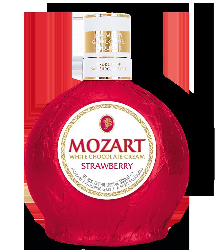 Distillato Liquore di Cioccolato Biancoe e Fragole  Mozart