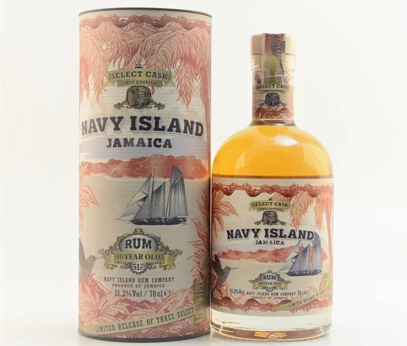 Distillato Rum Select Cask 10 YO Jamaica Navy Island