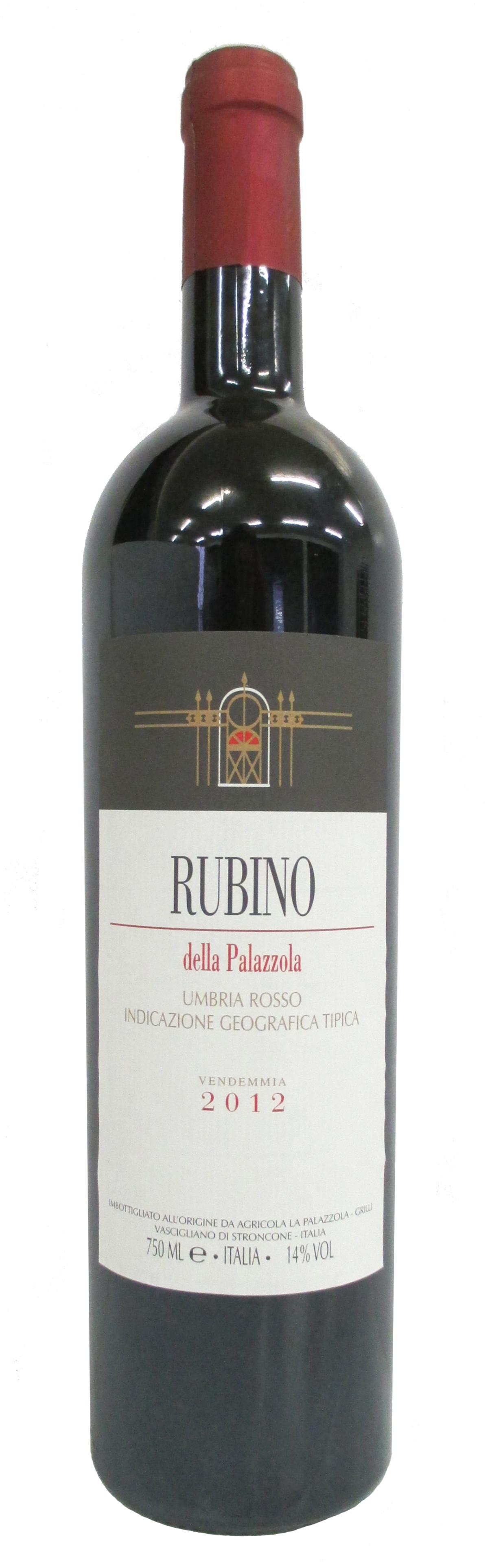 Vino rosso Rubino Umbria Rosso