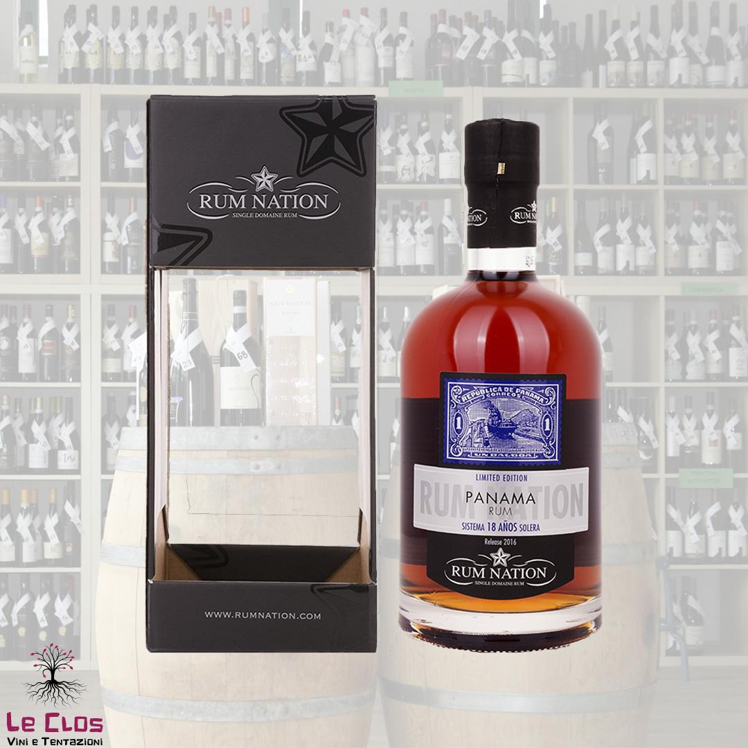 Distillato Rum Panama 18 anni sistema solera Nation