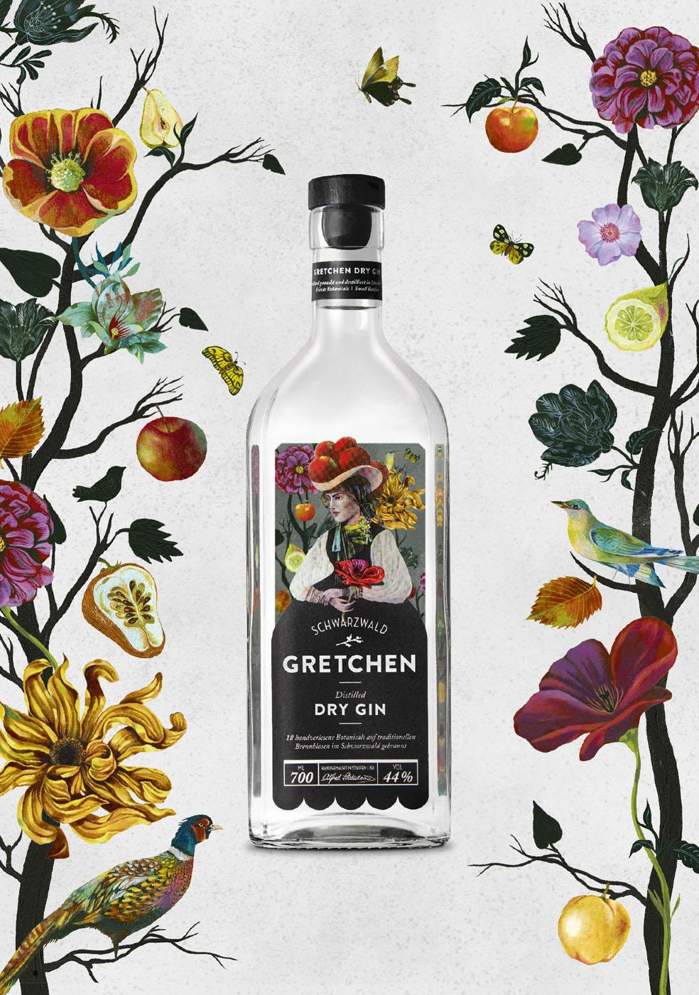 Distillato Schwarzwald Dry Gin Gretchen