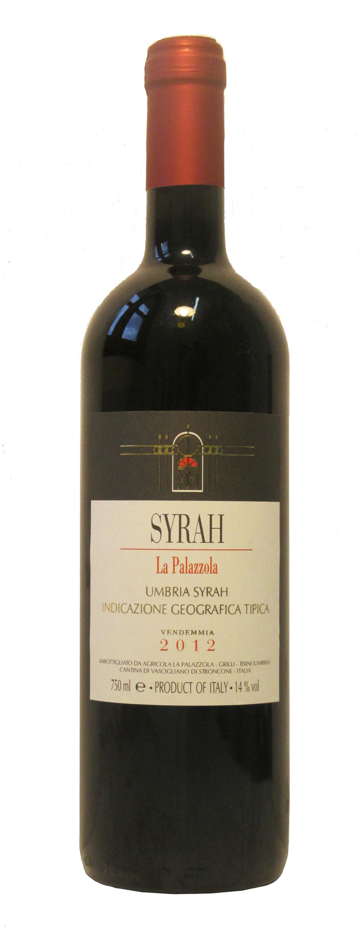 Vino rosso Syrah Umbria