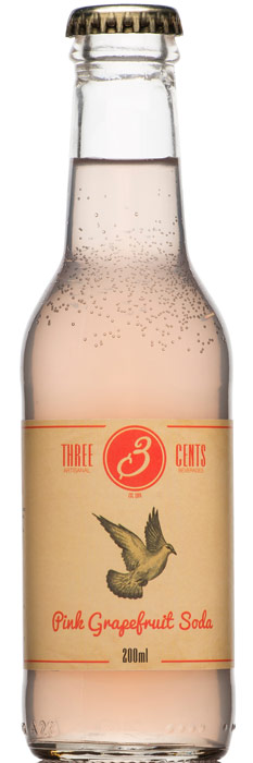 Distillato Pink Grapefruit Soda   Three Cents