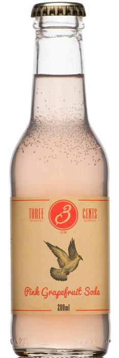 Distillato Pink Grapefruit Soda   Three Cents