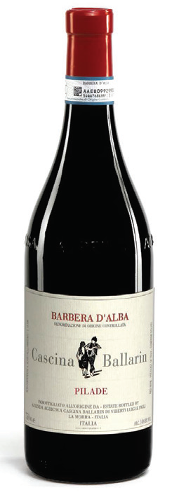 Vino rosso Barbera d' Alba Pilade 2017