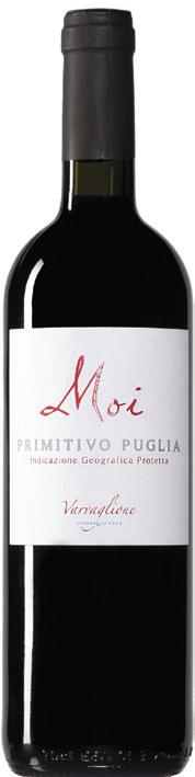 Vino rosso Moi Primitivo di Puglia
