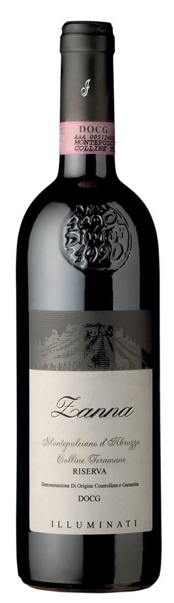 Vino rosso Montepulciano d'Abruzzo Colline Teramane Riserva Zanna