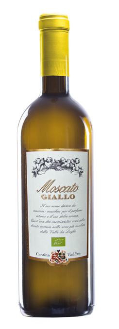 Vino bianco Moscato Giallo del Trentino