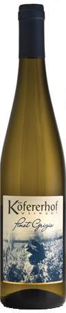 Vino bianco Pinot Grigio Alto Adige Valle Isarco