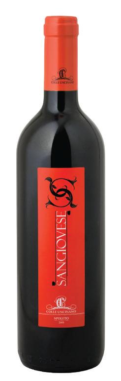 Vino rosso Sangiovese dell'Umbria