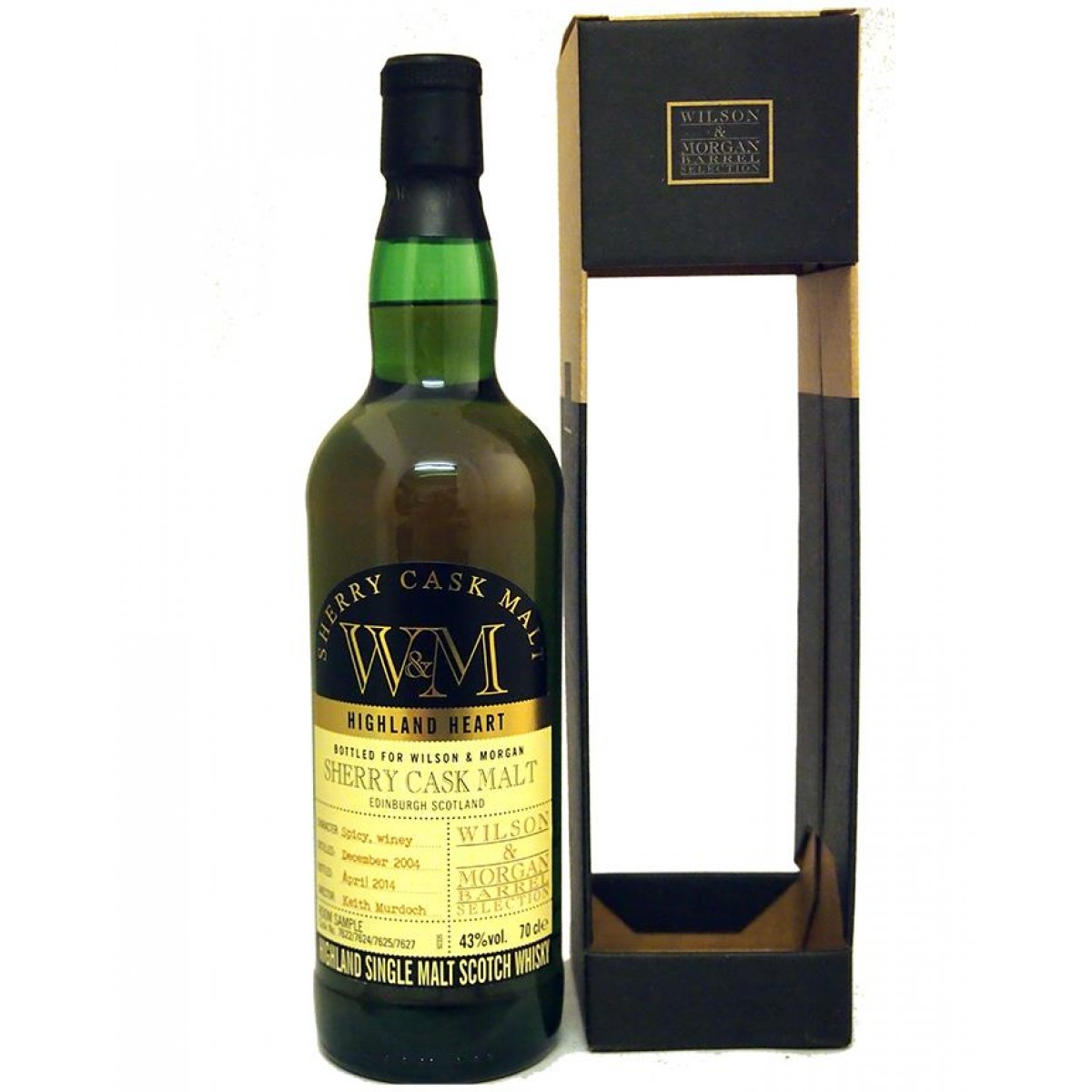 Confezione regalo Whisky Sherry Cask Malt Wilson & Morgan