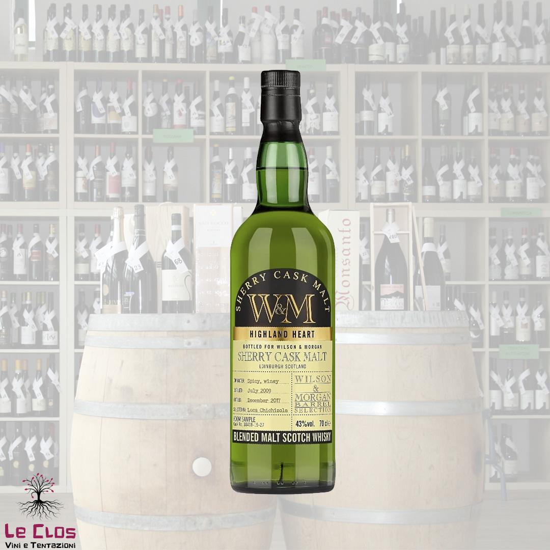 Distillato Whisky Sherry Cask Malt Blended Highland Malt W&M